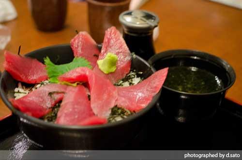 静岡県 伊東市 道の駅 伊東マリンタウン 海鮮丼 レストラン ばんばん食堂 まぐろ丼05
