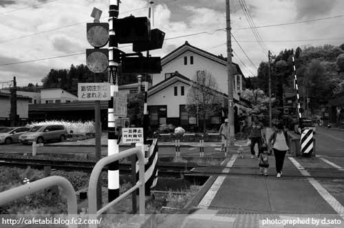モノクロ写真展 長野県 飯山市 仏壇通り 街並み 白黒写真 街歩き 観光写真 01
