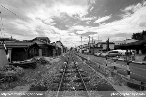 モノクロ写真展 長野県 飯山市 仏壇通り 街並み 白黒写真 街歩き 観光写真 02