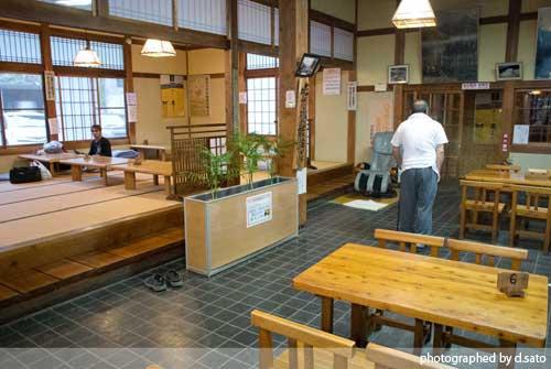 長野県 木島平 馬曲温泉 望郷の湯 夕食 食事処 とんかつ定食 山菜うどん 日帰り温泉 立ち寄り湯 10