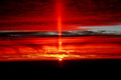 sun-pillar-chileチリ アコンカグア、キャンプニドの太陽柱