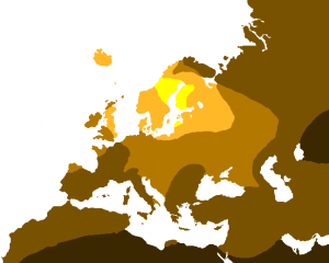Light Hari(薄い色で明るく光る髪)の分布図