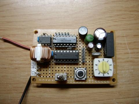 ローサイド電流モニター実験基板表