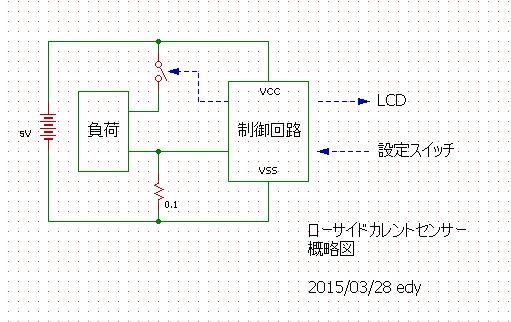 ローサイド電流モニター概略図
