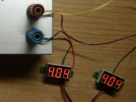 極小電圧表示器測定中