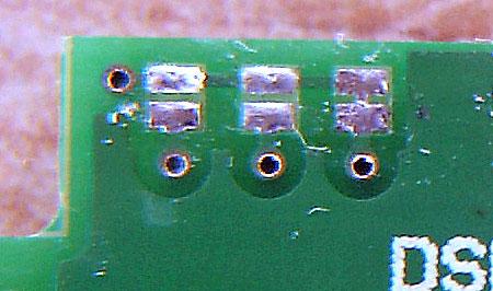 極小電圧表示器裏ジャンパ