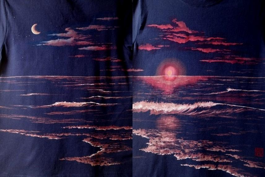 手描きTシャツ 海