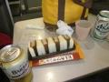 空港で昼食
