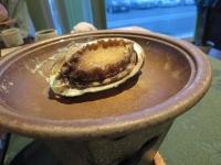 アワビの蒸し焼き