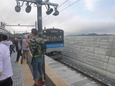 陸前大塚駅ホーム