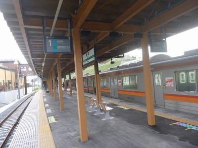 野蒜駅ホーム