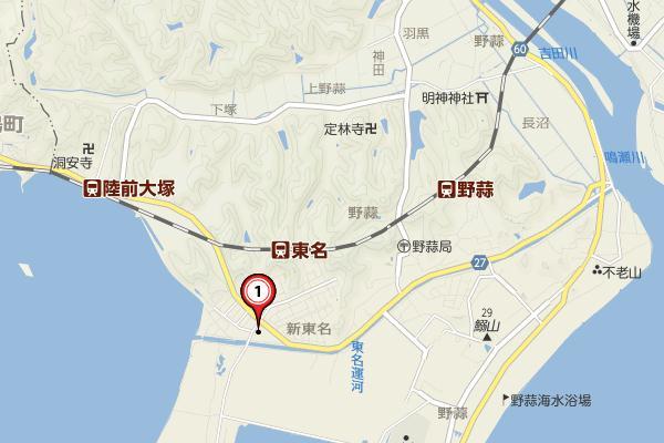 野蒜駅付近yahooの地図20150530