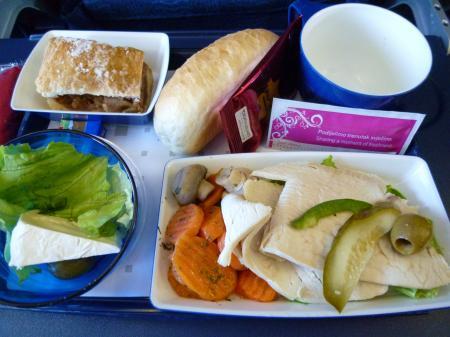 クロアチア航空の機内食