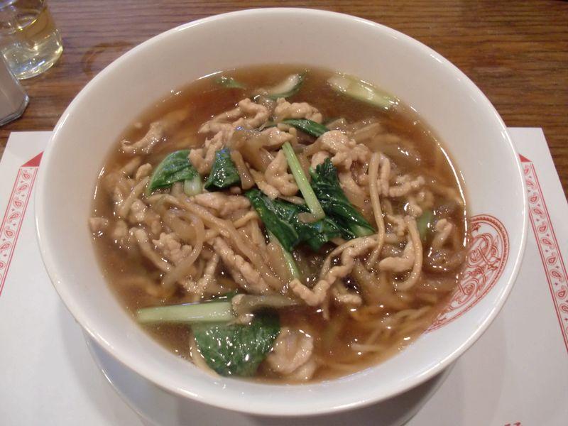 麗江@月島・20141214・ザーサイと豚肉の湯麺