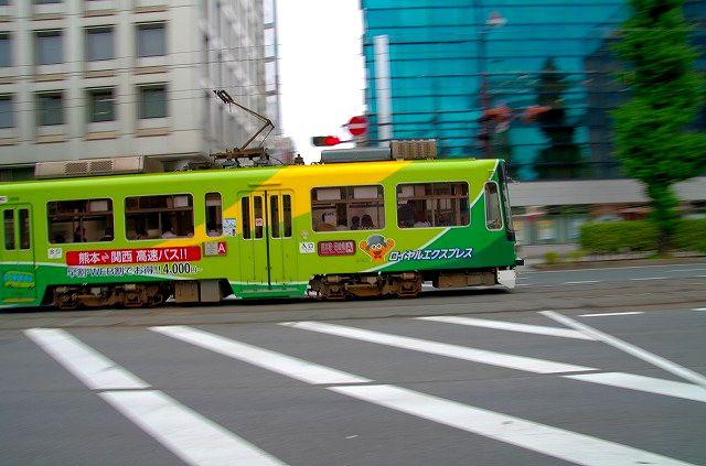 熊本市電で流し撮り 2
