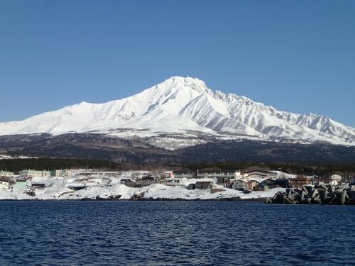 真冬の利尻山