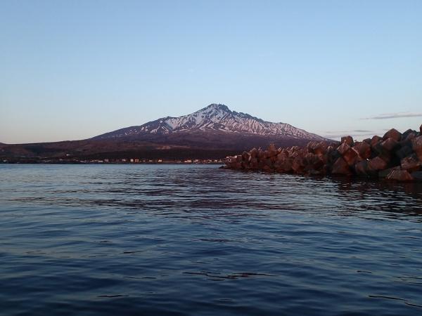 夕方の利尻山