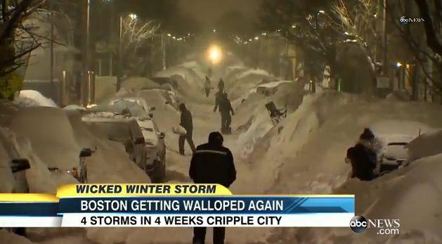 アメリカ・ボストンで暴風雪…降雪量が観測史上最高を記録