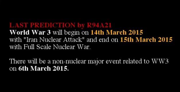【New World Order】2015月3月14-15日に何かが起きる…第三次世界大戦についてお話したいと思います