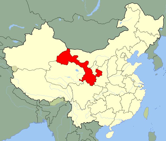 中国・甘粛省でM4.5の地震発生 深さ約9km