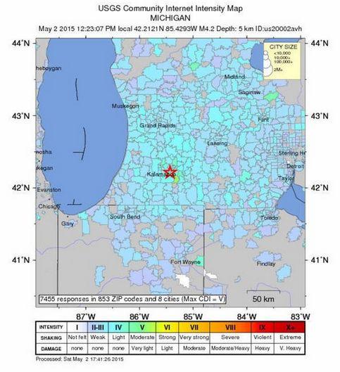 アメリカ・ミシガン州でM4.2の地震…「異例の発生」前回68年前の地震に次ぐ大きさ