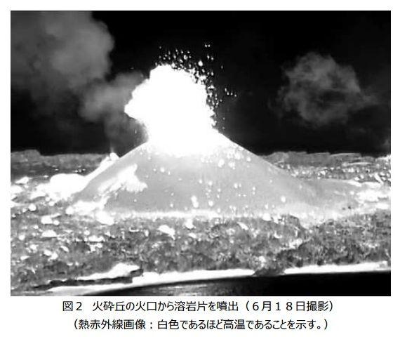 【西之島】二酸化硫黄の火山ガスの放出を確認…依然、活発な火山活動が継続中