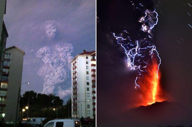 チリのカルブコ火山噴火で噴煙の中に「巨人」が現れたと話題に
