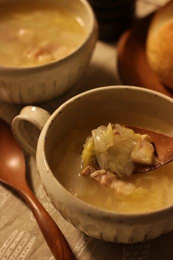 塩豚と白菜のスープ1