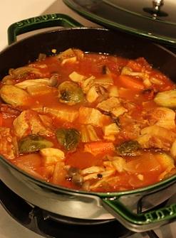 豚バラトマト煮鍋