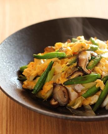 金針菜の卵炒め1