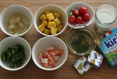 ポテトサラダのグラスティラミス材料