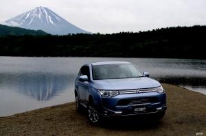Mitsubishi Outlander phew reverse Mt.FUJI