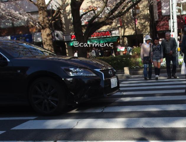 三崎港横断歩道の車
