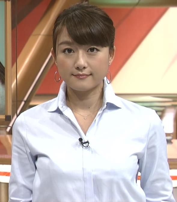 大島由香里 ぱっつんワイシャツおっぱいキャプ画像(エロ・アイコラ画像)