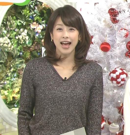 加藤綾子 セーターキャプ画像(エロ・アイコラ画像)