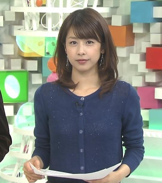 加藤綾子 キャミ透け衣装