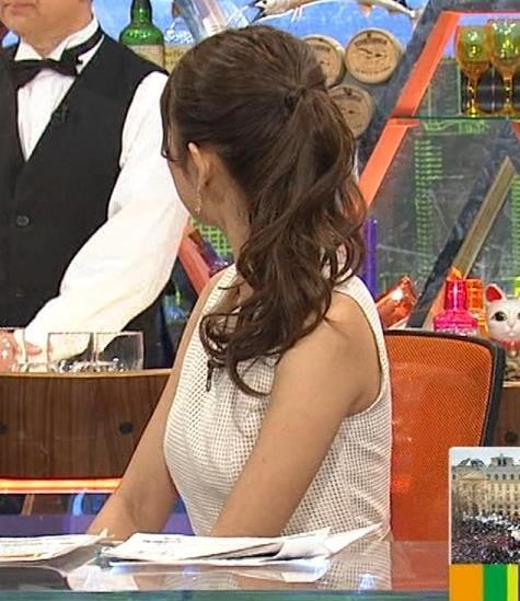 三田友梨佳 ノースリーブ横乳 (ワイドナショー 20150131)キャプ画像(エロ・アイコラ画像)