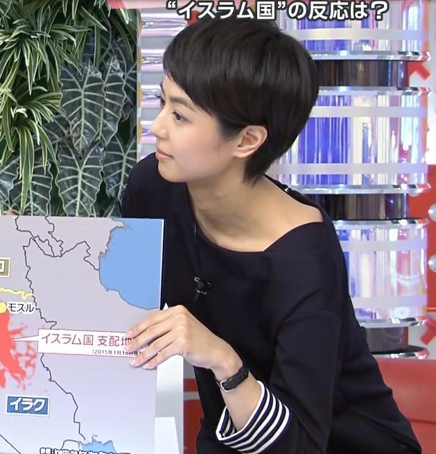 夏目三久 鎖骨「あさチャン!」キャプ画像(エロ・アイコラ画像)
