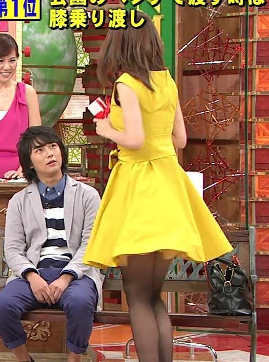 加藤綾子 ふんわりスカート&黒ストッキングがエロイい