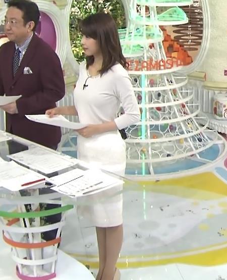 加藤綾子 白いタイトな衣装