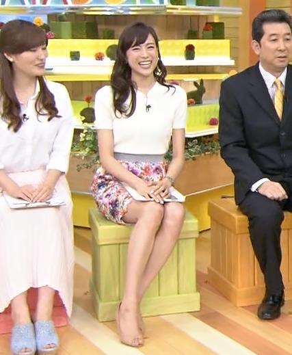 笹川友里 美人女子アナのミニスカ太ももキャプ画像(エロ・アイコラ画像)