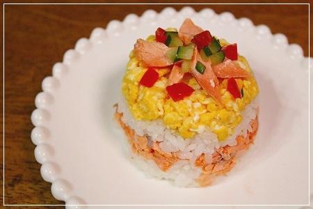 せめて、お寿司的な物でお祝い!