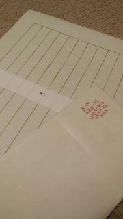 月光荘、便箋と封筒