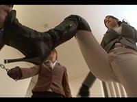 【M男】正装淑女たちによるニーハイブーツ金蹴りリンチ!【TubeCup】