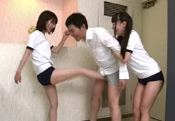 【M男】 ブルマ金蹴り・大好きな女子にキン○マを蹴り上げられる!