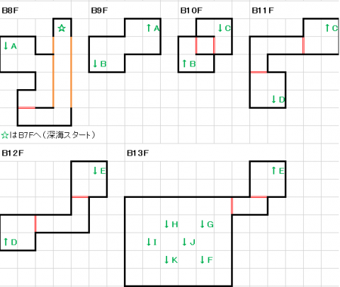 スーパーブラックオニキス深海B8F~B13F